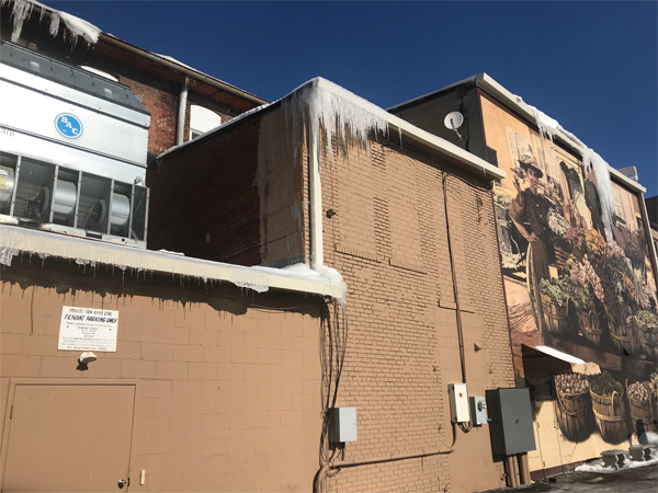 Commercial Flat Rubber Roof Storm Ice Hail Damage Columbus